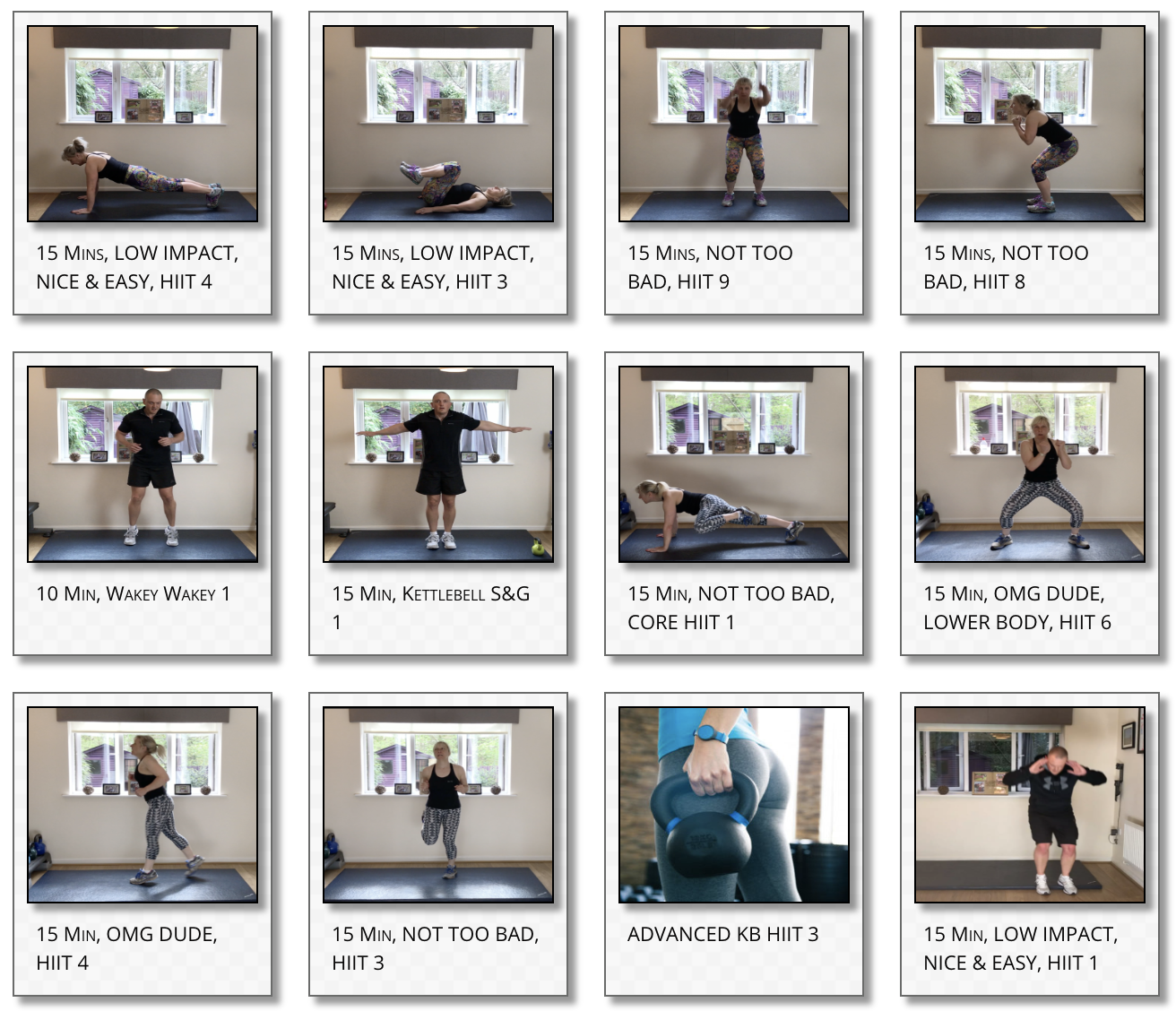 Home Based Workouts